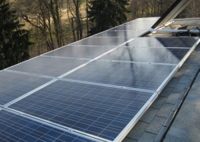 PV panels combined with a SHW system